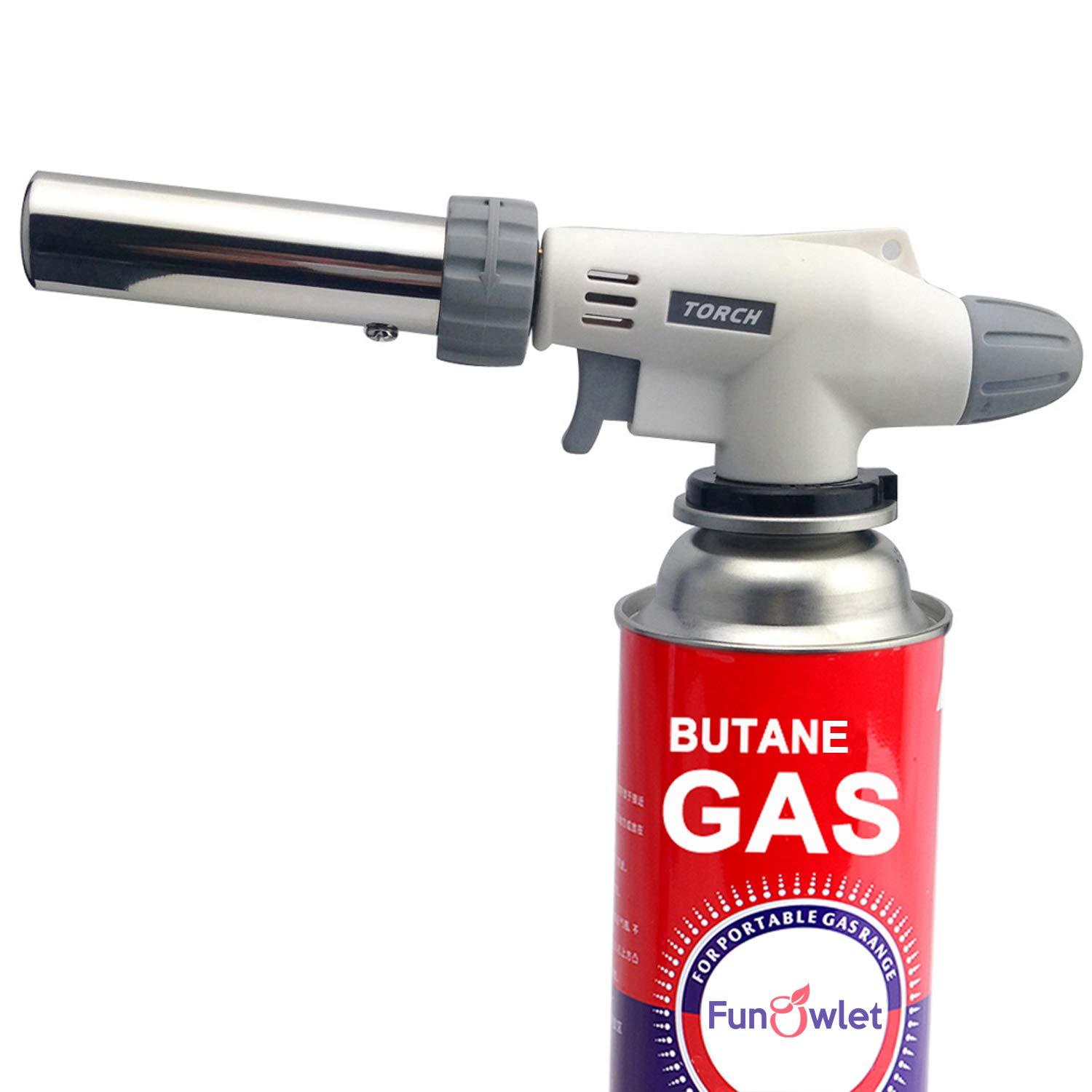 Butane Torch Kitchen Blow Lighter - Culinary Torches Chef Cooking Professional Adjustable Flame